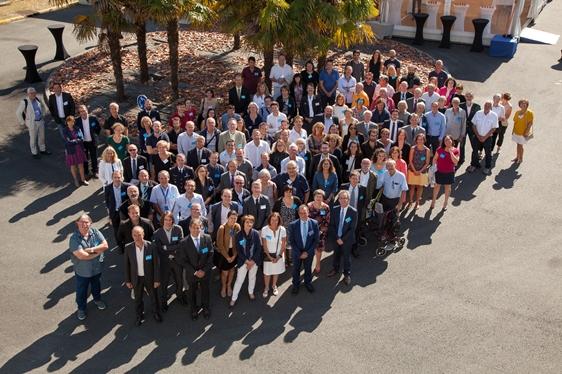 Photo de groupe des 60 ans du SIA jeudi 27 septembre 2018
